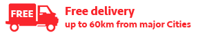 Free delivery up to 60km from major South African Cities